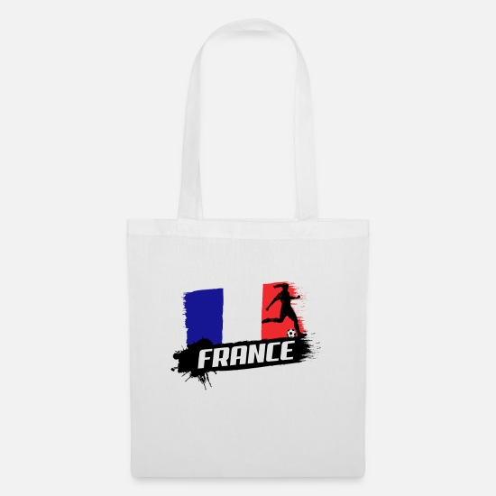 World Championship Bags & Backpacks - France Soccer World Cup 2019 Women's Football - Tote Bag white