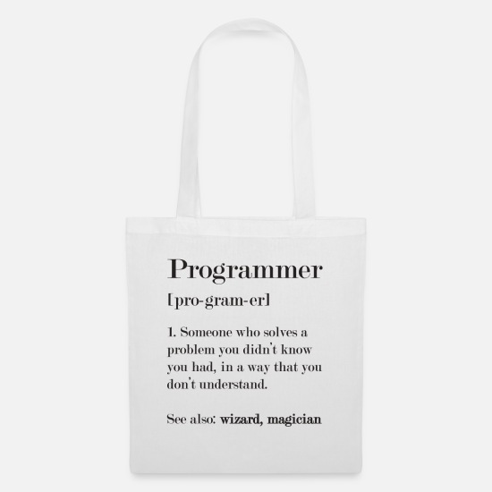 Program Bags & Backpacks - programmer - Tote Bag white