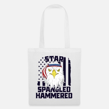 American Pride Patriotic Drinking TShirt Eagle Star Spangled - Tote Bag