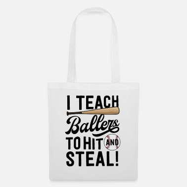 Fitness Baseball Coach Gift Men I Teach Ballers To Hit - Tote Bag