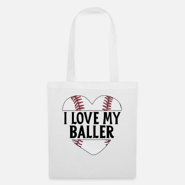 Big Baseball Dad Shirt Father's Day Gift I Love My - Tote Bag