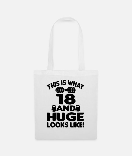 Birthday Saying Bags & Backpacks - 18 years 18th birthday gift - Tote Bag white
