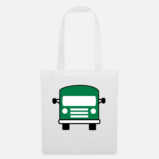 Bus Bags & Backpacks - bus - Tote Bag white