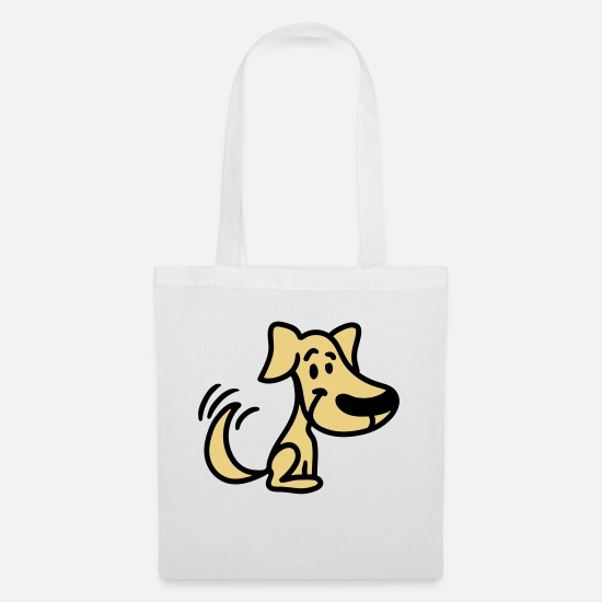 Nose Bags & Backpacks - Dog - tail wagging - Tote Bag white