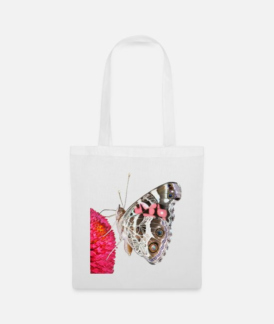 Happiness Bags & Backpacks - Butterfly on blossom - Tote Bag white
