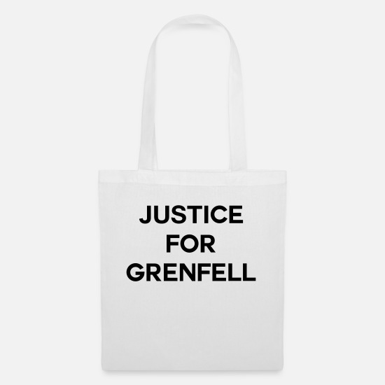Tower Bags & Backpacks - Justice For Grenfell - Tote Bag white