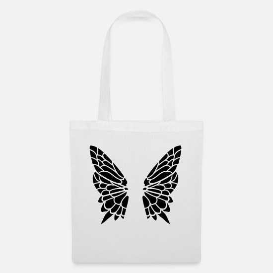 Small Bags & Backpacks - Wing from the butterfly - Tote Bag white