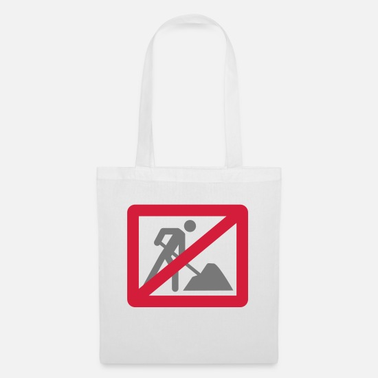 Labour Bags & Backpacks - No Work - Tote Bag white