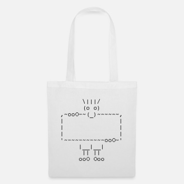 Geek ascii art: troll + your text - Stoffbeutel
