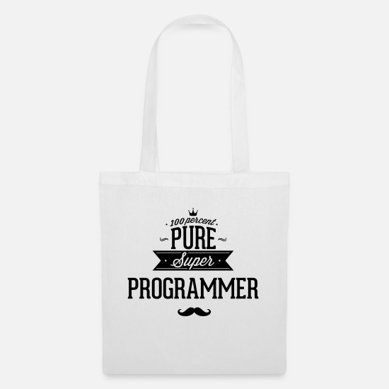 Java Bags & Backpacks - Absolutely pure Super programmers - Tote Bag white