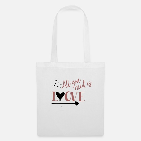 Love Bags & Backpacks - All you need is love - declaration of love - Tote Bag white