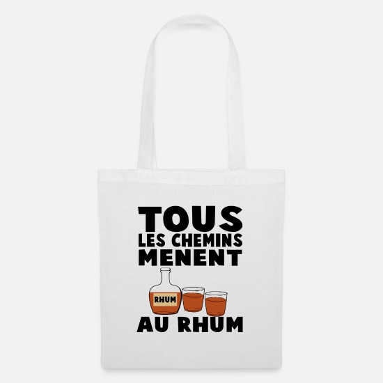 Hen Night Bags & Backpacks - All roads lead to rum - Tote Bag white