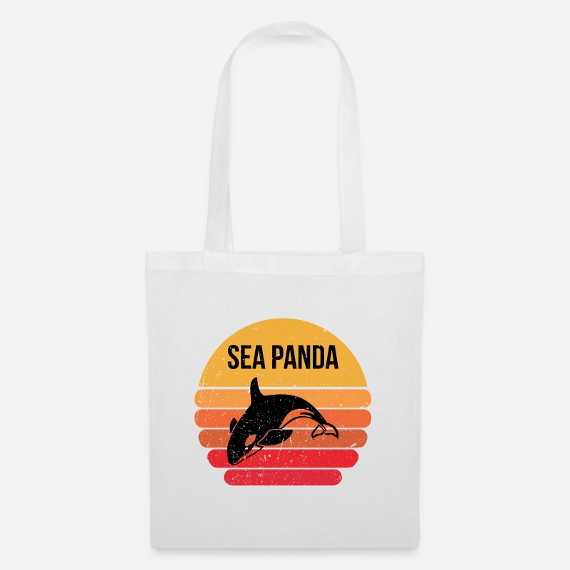 Love Bags & Backpacks - Sea Panda gift - Tote Bag white