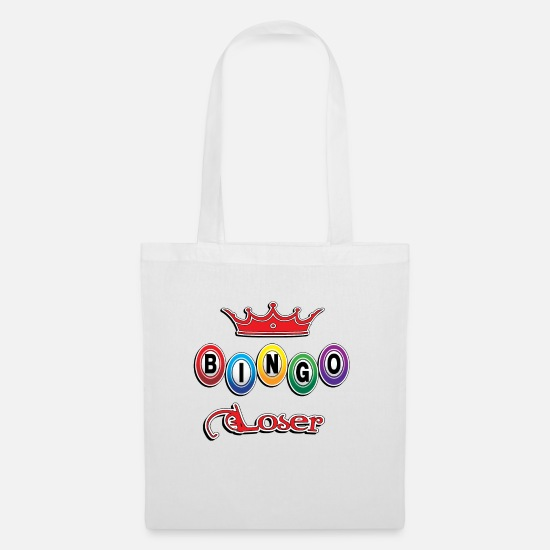 Bingo Bags & Backpacks - bingo loose t-shirt loser - Tote Bag white