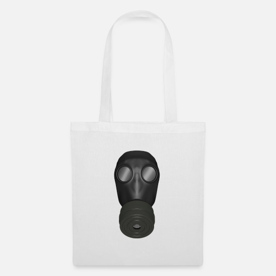 Mouth Guards Bags & Backpacks - Gas mask - Tote Bag white
