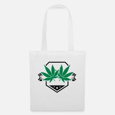 Raucher leaf_hemp_design_pu2 - Stoffbeutel