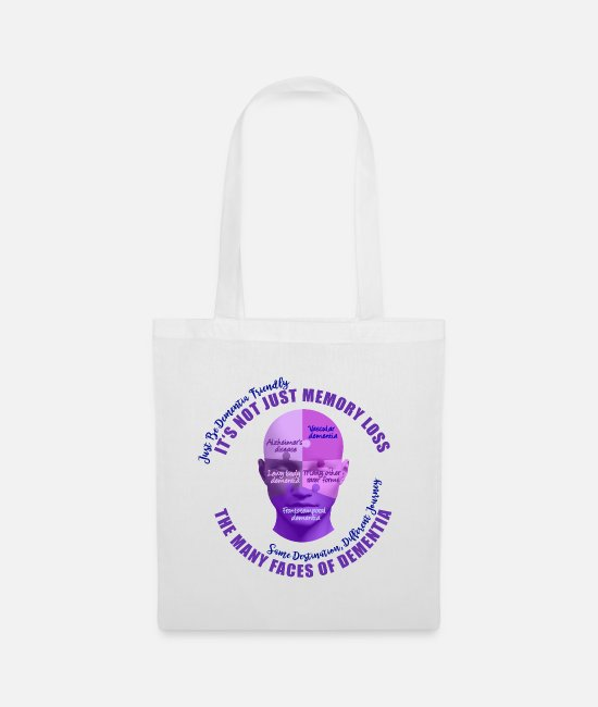 Bags & Backpacks - The Many Faces of Dementia - Tote Bag white