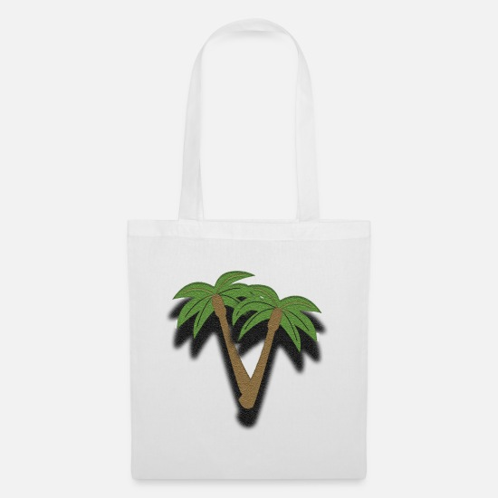 Water Bags & Backpacks - Palm - Tote Bag white