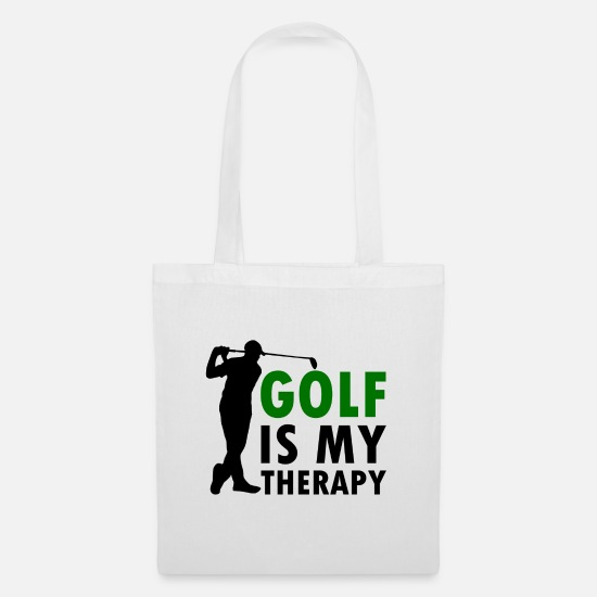 Golf Bags & Backpacks - Golf is my therapy - Tote Bag white