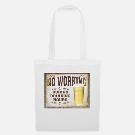 Beer Bags & Backpacks - No working - Tote Bag white