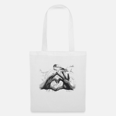 Love Collection V2 heart graphic - Borsa di stoffa