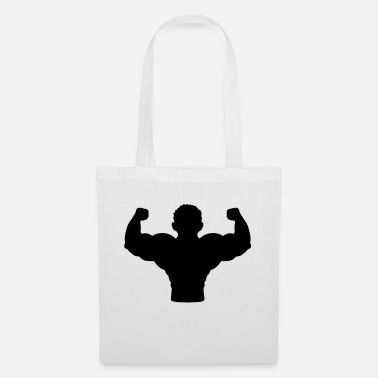 Poor Outline silhouette bodybuilder - Tote Bag