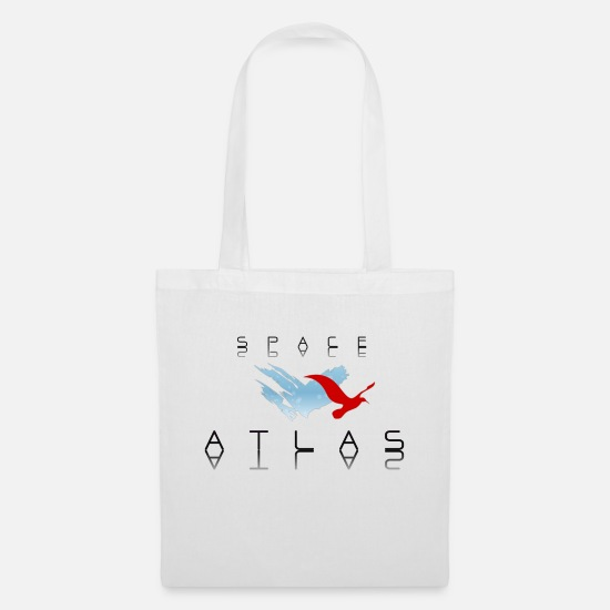 Baseball Bags & Backpacks - Space Atlas Baseball Tee Red - Tote Bag white