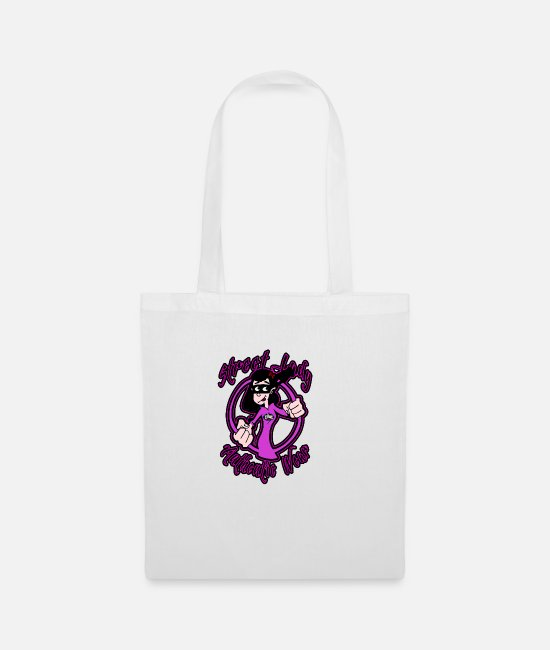 Art Bags & Backpacks - street lady pink - Tote Bag white