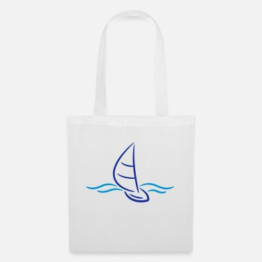 Boad Sport Sailing Boad And Waves Logo - Stoffentas
