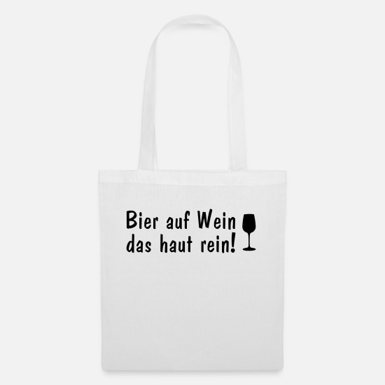 Wine Glass Bags & Backpacks - Beer on the skin pure - Tote Bag white