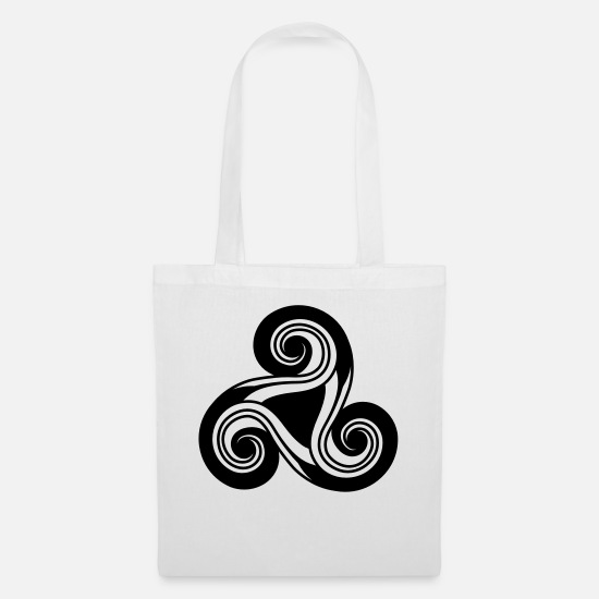 Triskele Bags & Backpacks - Celtic - Tote Bag white