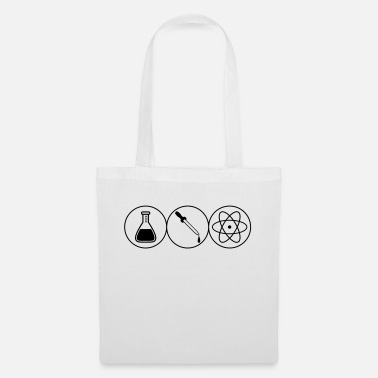 Pipettes pipette atom symbol circle researcher pipette fl - Tote Bag