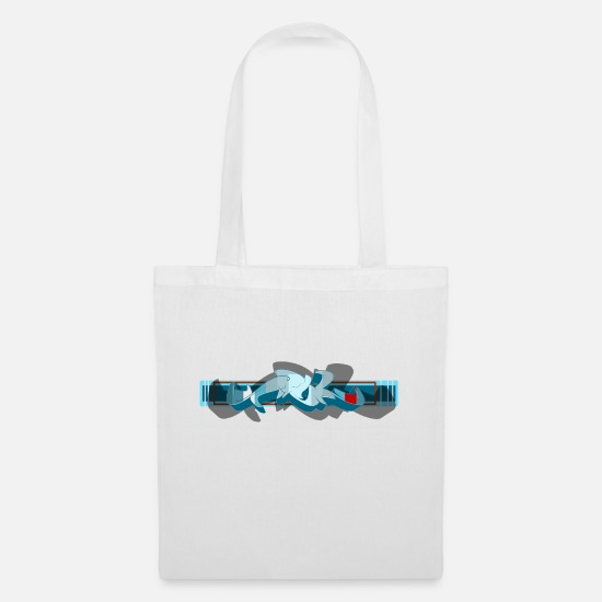 Rap Bags & Backpacks - graffiti - Tote Bag white
