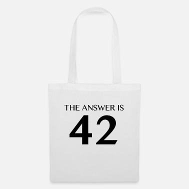 The Answer is 42 Black - Tote Bag