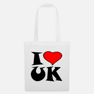 Uk Uk - I love UK - i love UK - Tote Bag