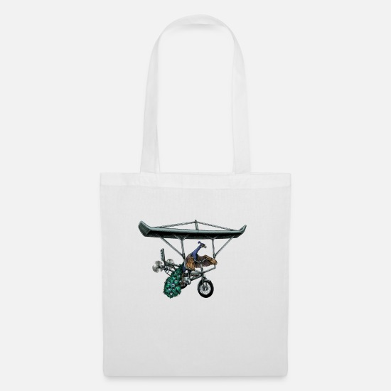 Flight Bags & Backpacks - Flight of the Peacock - Tote Bag white