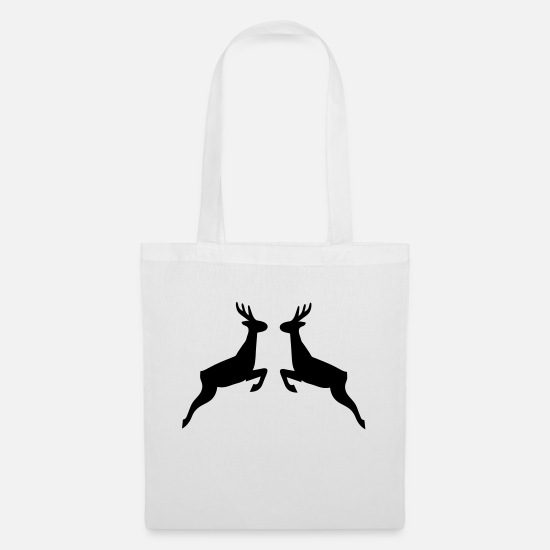 Stag Bags & Backpacks - deer - Tote Bag white