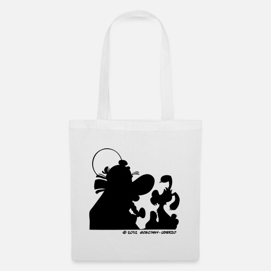 Elixir Bags & Backpacks - Asterix & Obelix with Idefix shadow - Tote Bag white