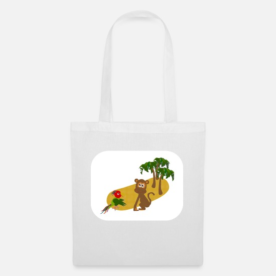 Cool Bags & Backpacks - Papagei und Affe der nackte tiger - Tote Bag white