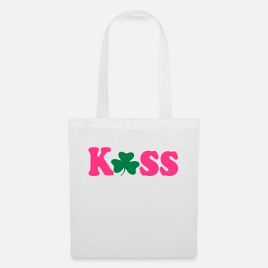 Vector Underwear ۞»♥Kiss Irish Shamrock-Vector Desgin♥«۞ - Tote Bag