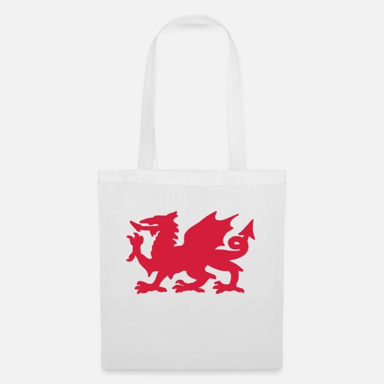 British Bags & Backpacks - Welsh Dragon - Tote Bag white