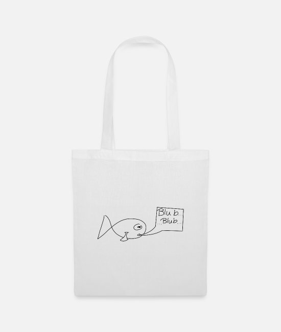 Mediterranean Bags & Backpacks - Fish with speech bubble - Tote Bag white