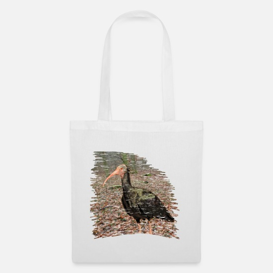Gift Idea Bags & Backpacks - The Waldrapp is extremely threatened with extinction - Tote Bag white
