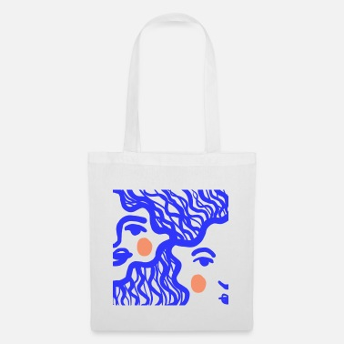 Girl The girl in blue - Tote Bag