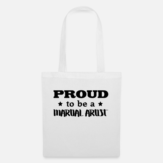 Martial Artist Bags & Backpacks - martial artist proud to be - Tote Bag white