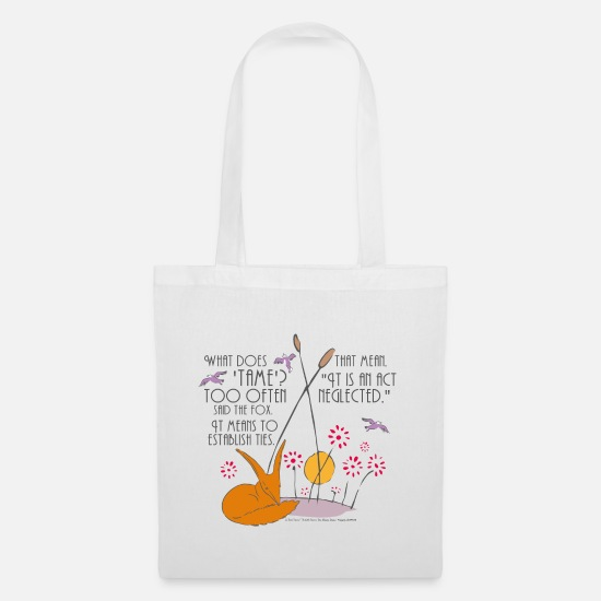 Drawing Bags & Backpacks - The Little Prince Friendship Taming The Fox - Tote Bag white