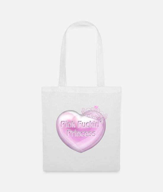 Cute Bags & Backpacks - Pink F kin Princess Heart spaced better - Tote Bag white