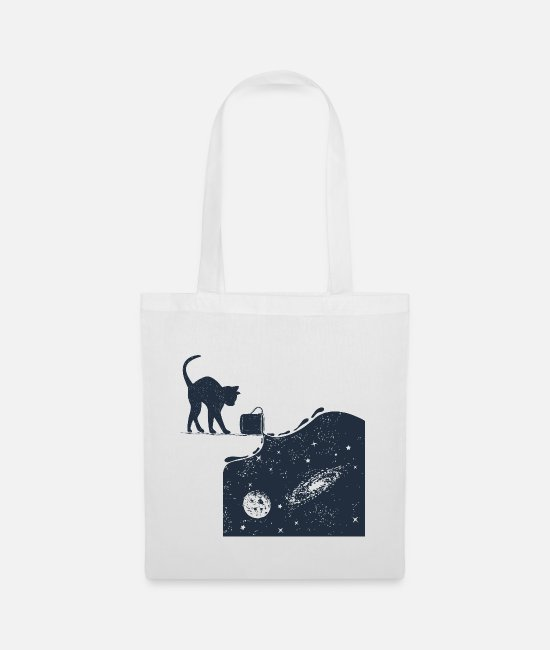 Cats And Dogs Collection Borse & Zaini - Universo Cat - Borsa di stoffa bianco