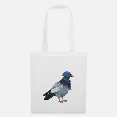 Colombe / Pigeon / Colombe - Hiver - Sac en tissu