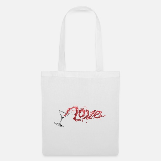 Love Bags & Backpacks - Love Alcohol | Beautiful Gift - Tote Bag white